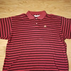 Brooks Brothers Red Black Striped Polo